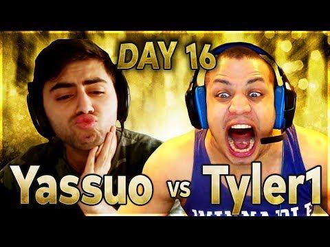THE GREAT COMEBACK | YASSUO VS TYLER1 - $10K BET: DAY 16