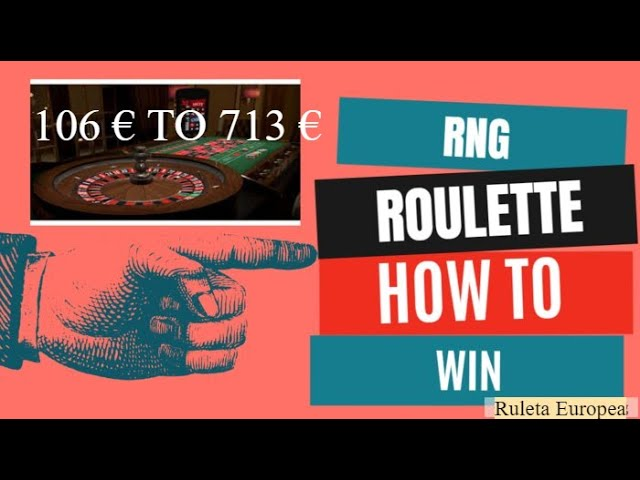RNG Roulette: How to Win at the Random Number Generator 🤑 106 € a 713 € (WORKS!!!)