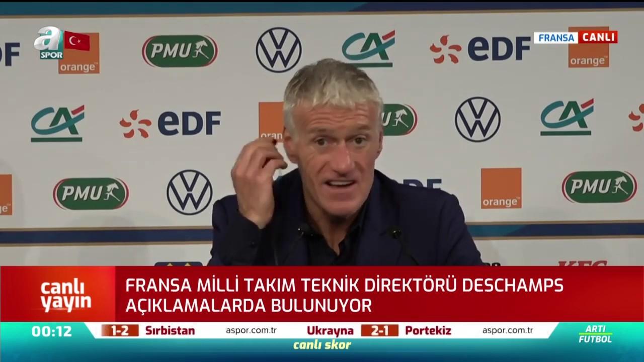 Fransa Milli Takımı Teknik Direktörü Didier Deschamps, Türkiye Maçı Sonrası Açıklamalarda Bulundu!