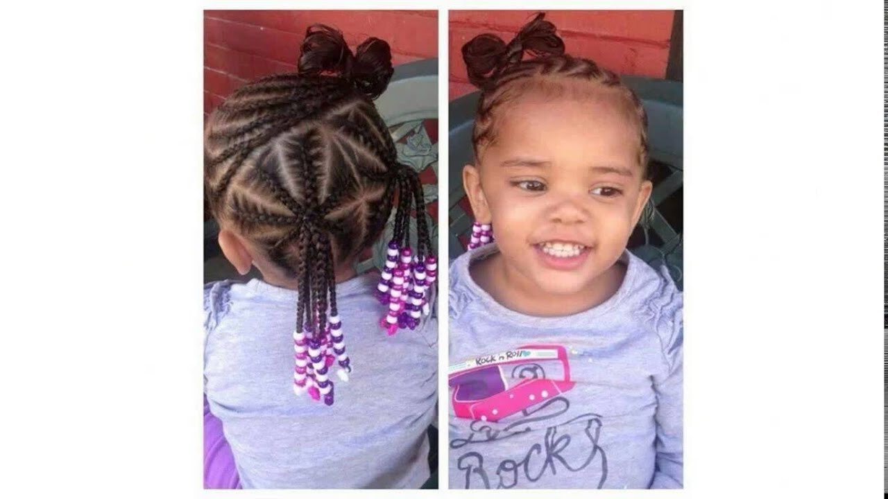 Hairstyles For Little Kids Cornrows Hairstyles For Little Girls Youtube