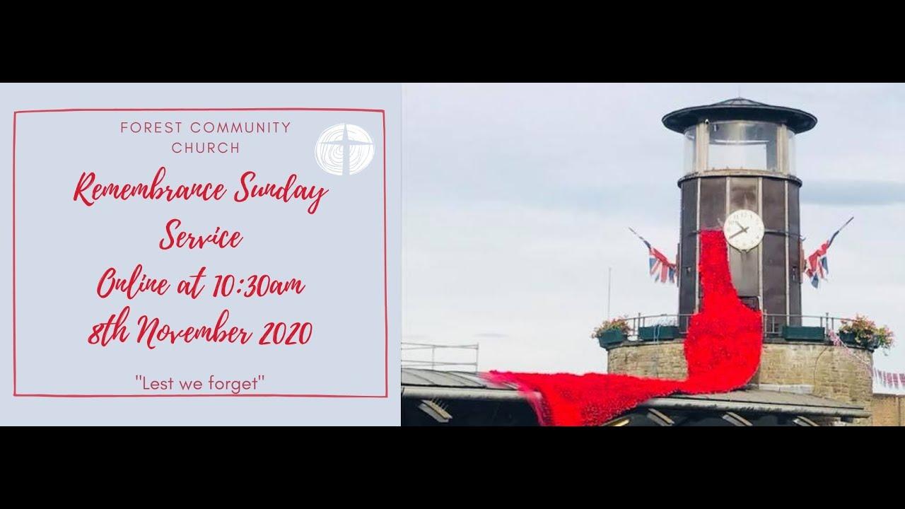 Remembrance Sunday Service 8th Nov 2020