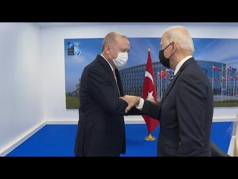 Turkish President Erdogan meets US President Biden   AFP