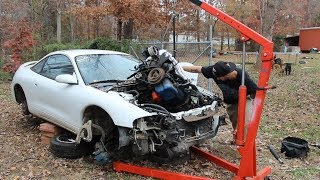 Pulling the engine and transmission out of the donor car