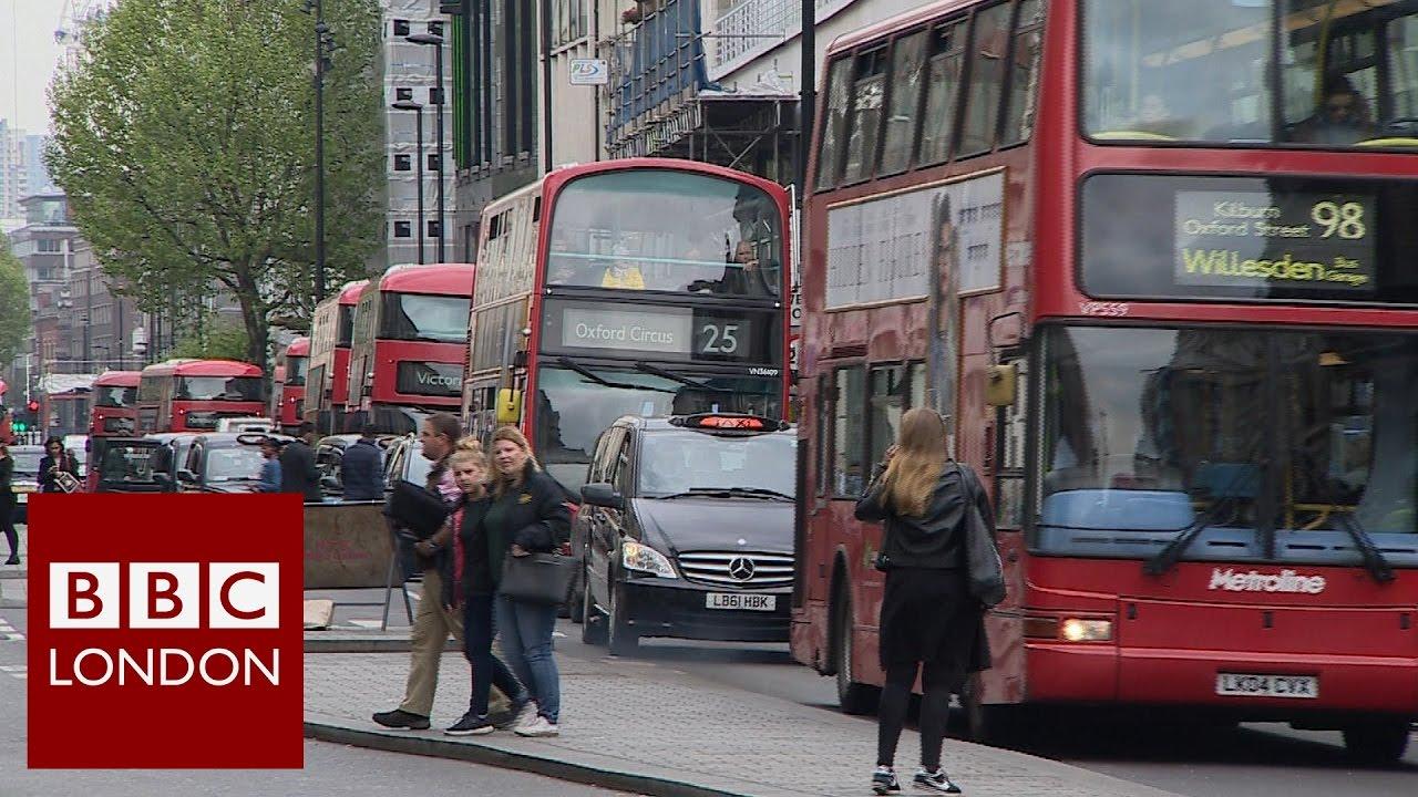 Bus Numbers Cut On Oxford Street Bbc London News