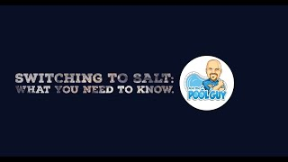 Converting to a Salt System for your Swimming Pool {Ask the Pool Guy}