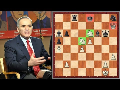 Kasparov's Dangerous Cavalry Finishes Up His Opponent