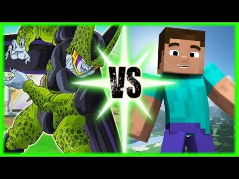 Perfect Cell Vs Steve (Minecraft)