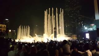 Dubai Fountain in Arabic song i can be your hero