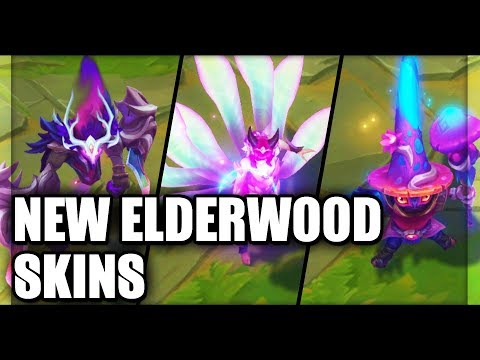 All New Elderwood Skins Spotlight Ahri, Veigar, Nocturne (League of Legends)