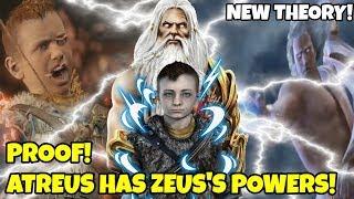 God of War Theory- PROOF Atreus has Zeus's powers! Explained Secret! (Faye, Kratos, Zeus, Atreus)