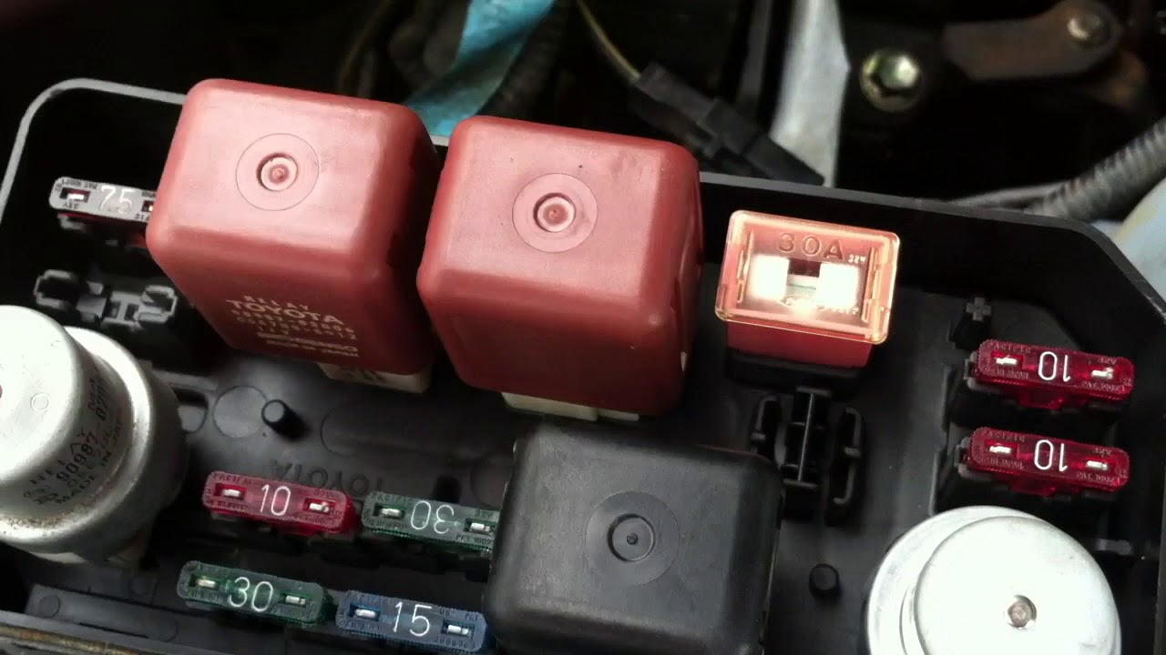 Radiator Fan Problem On Toyota Corolla Ae92 Youtube Carina 2 Fuse Box