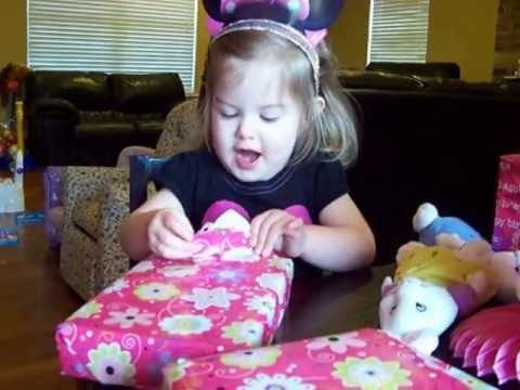Cute Baby Opening Birthday Presents Londyn YouTube