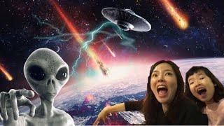 UFO 외계인 지구침공 해골외계인~ 외계생명체 얼음깨기 냉동외계인 해골외계인 UFO ALIEN l Frozen alien is coming l Alien attack