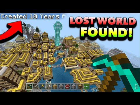 I Found a LOST Minecraft World I Made Nearly 10 Years Ago... 🥺
