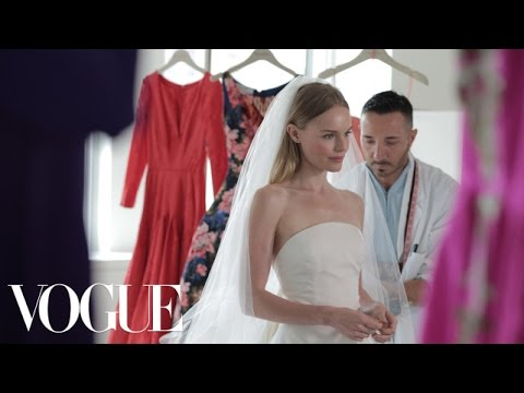 Kate Bosworth Sees Her Oscar de la Renta Wedding Dress for the Very First Time  Vogue Weddings