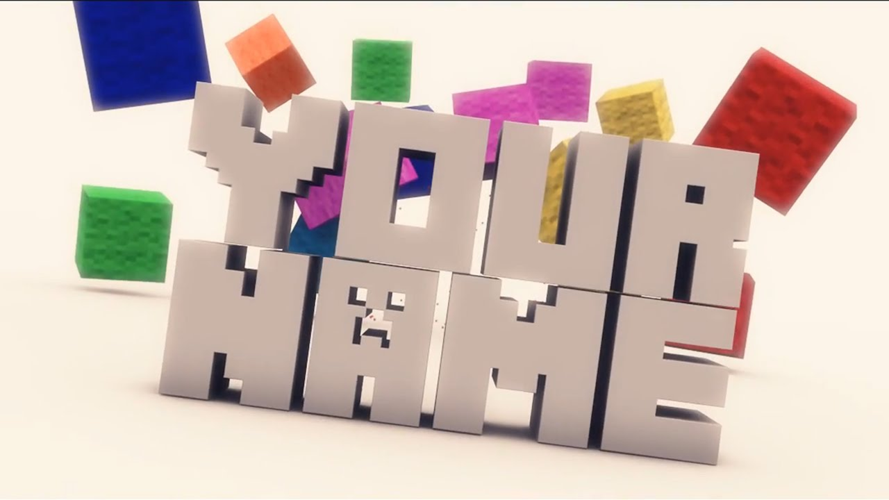 Free 3D Intro 5 Minecraft Cinema 4D Template YouTube