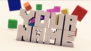 Free 3D Intro #5 | Minecraft Cinema 4D Template
