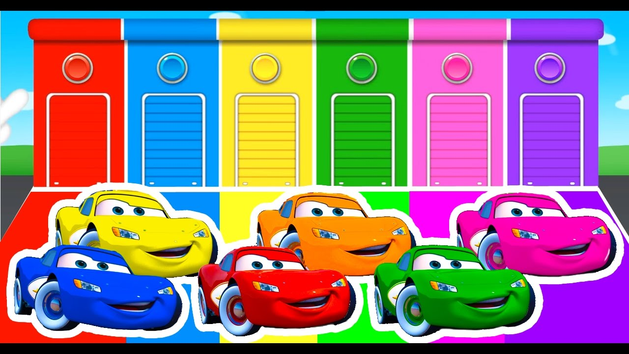 Learn Colors With Lightning McQueen And Colour Cars For