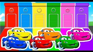 Learn Colors with Lightning McQueen and Colour Cars For Kids - Learning Numbers Videos