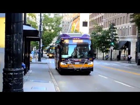 King County Metro : Rush Hour Bus Action @ 3rd Avenue & Columbia & Cherry Streets