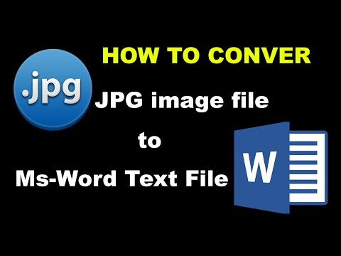 How to Convert JPG file to Ms Word File very easy
