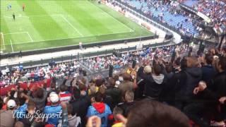 Feyenoord - FC Utrecht (22-09-2013) Uitvak sfeer
