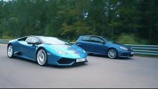 DT Test Drive--700 HP VW Golf R HGP vs Lamborghini Huracan