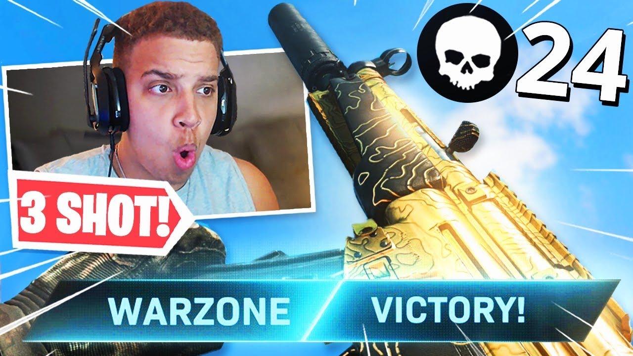 the 3 SHOT KILL MP5 in WARZONE! CLASS SETUP SHREDS! (Modern Warfare Warzone)