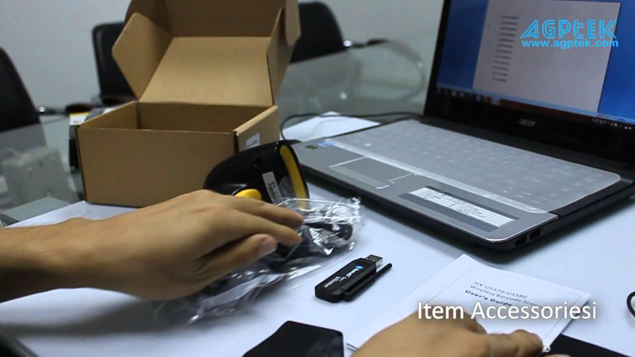 Agptek Wireless Handheld Barcode Scanner Youtube