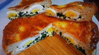 Понравится ВСЕЙ СЕМЬЕ  ПАСХАЛЬНЫЙ пирог с сыром и шпинатом ВКУСНЫЙ и НЕЖНЫЙ пирог простой рецепт