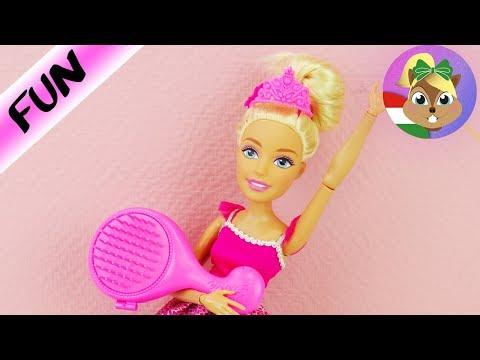 XXL BARBIE fodrásznál jár  XXL KIRÁLYNŐ új stílusa új frizurája  Barbie frizura készítése házilag