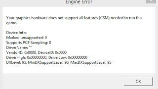для тех у кого при запуске cs go выдает your graphics hardware does not support all features