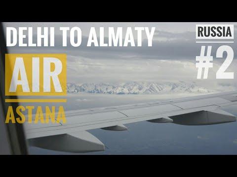 Delhi IGI T3 to Almaty, Kazakstan | AIR ASTANA |Eating Food over Pakistan