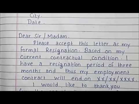 Write A Resignation Letter   Formal Resignation Letter