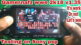 Wwe 2k18 v1.35 testing on Sony psp || gamernafz