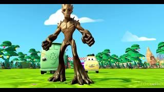Грут из Стражи Галактики Мультик игра про лошадки и Тачки Машинки мир Дисней Groot Cars 2