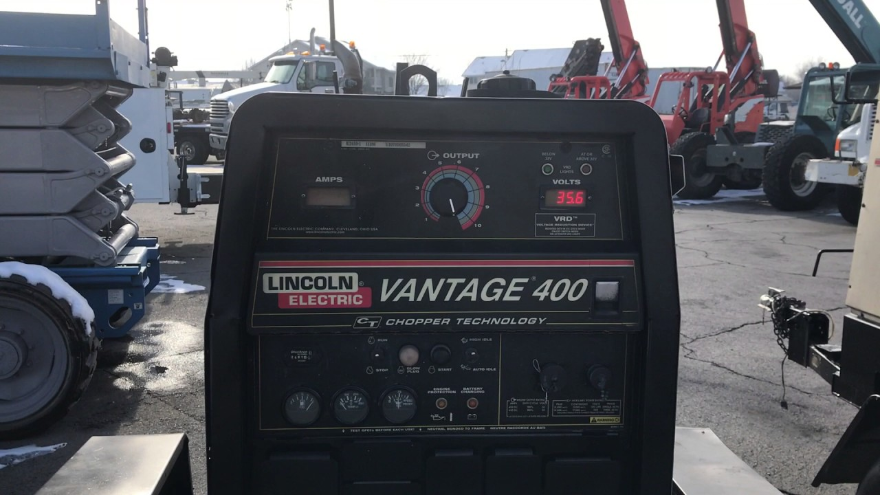 Lincoln Welders For Sale >> SOLD Lincoln Vantage 400 Welder Generator Diesel Trailer ...