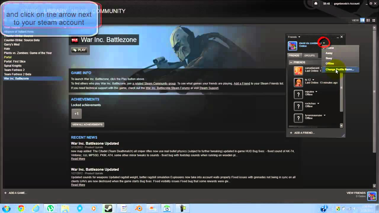 how to change steam name in game