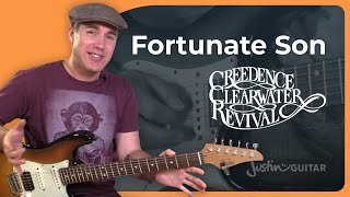 How to play Fortunate Son by Creedence Clearwater Revival - Guitar Lesson Tutorial (BS-724)