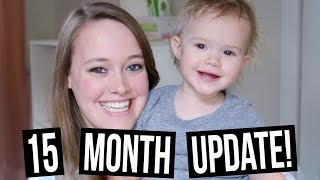 AERIE'S 15th MONTH UPDATE! | Talking, Umbilical Hernia, & Using the Potty