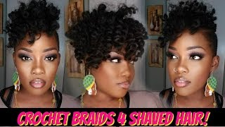 😍1 PACK CROCHET BRAID QUICKIE 4 SHAVED HAIR! | JAMAICAN BOUNCE