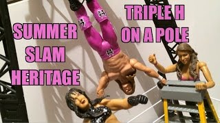 WWE ACTION INSIDER: Triple H Summerslam Heritage Mattel Basic Wrestling Figure Toy Review!