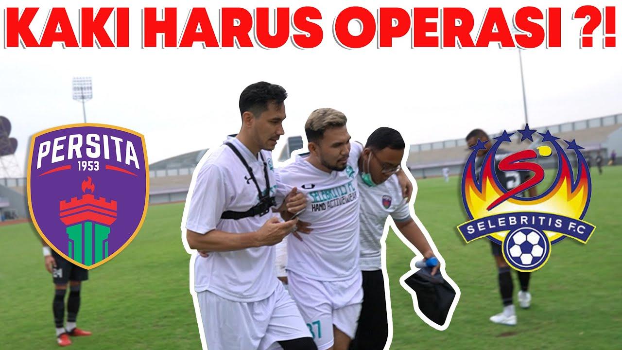 ROY CIDERA LUTUT LIGAMENTNYA PUTUS, MALAH DIKETAWAIN?! SELEBRITIS FC VS PERSITA