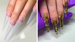 BEST LONG NAIL DESIGNS FOR GLAMOROUS GIRLS