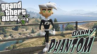 GTA 5 Mods - DANNY PHANTOM MOD (GTA 5 Mods Gameplay)