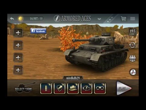 Armored Aces - 3D - Panzer IV AusfF2 - HD Android Gameplay - Full HD Video (1080p)