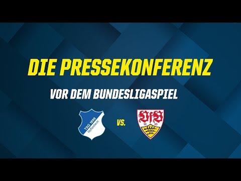 Die Pressekonferenz vor dem Bundesligaspiel gegen den VfB Stuttgart