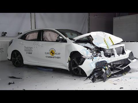 Honda Civic - 2017 - Crash test + AEB test Euro NCAP - YouTube