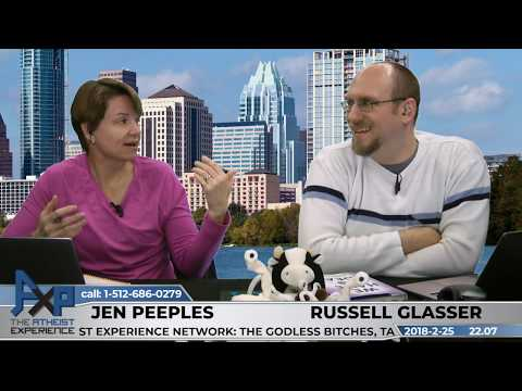 Atheist Experience 22.07 with Russell Glasser and Jen Peeples