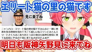 みこちの日本語を翻訳したら滑舌が悪すぎてなぜか阪神の矢野監督が配信する事に【ホロライブ切り抜き/さくらみこ】